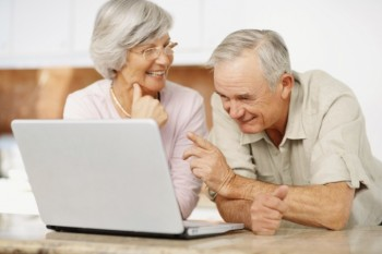 Old people on the computer